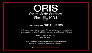 INVITACIÓN ORIS EL HIERRO