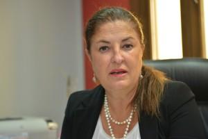 Belén Allende, Presidenta del Cabildo de El Hierro durante las declaraciones.
