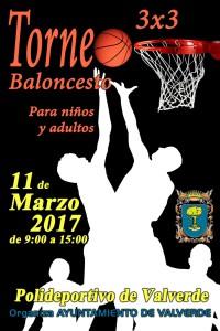 Cartel Torneo Baloncesto 3x3