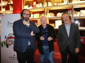 DVD 839 20/04/17 presentación de un podcast con Arturo Pérez-Reverte y Juan Echanove. Foto Marta Jara